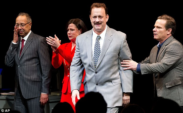 Best actor accolade: Tom Hanks received a nomination for his role in Nora Ephron play Lucky Guy
