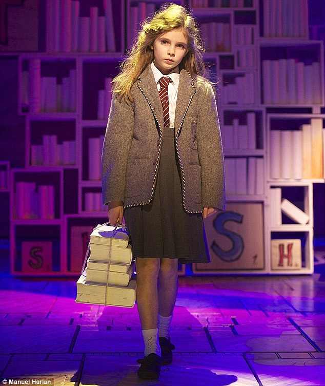 Impressive: Matilda's four rotating young stars were not deemed to be eligible for the Best Actress nomination at this year's Tony Awards