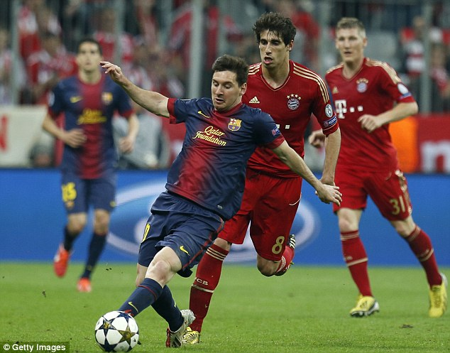 Barca beating: Lionel Messi's Barcelona go into the second leg trailing, following a 4-0 first leg loss