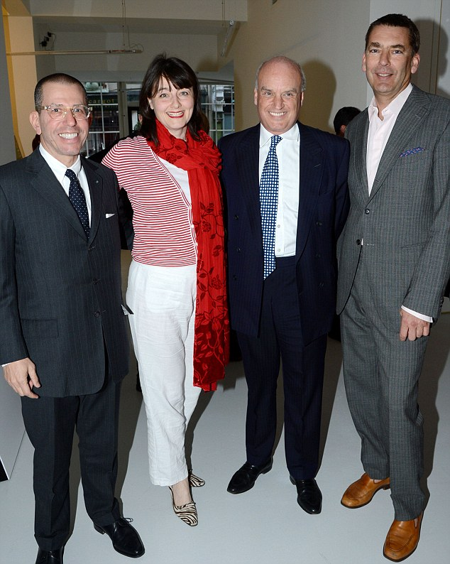 Guests: Jonathan Newhouse, Bill Amberg, Nicholas Coleridge and Georgia Metcalfe rubbed shoulders with famous faces Guests: Jonathan Newhouse, Bill Amberg, Nicholas Coleridge and Georgia Metcalfe at the Condé Nast College of Fashion and Design opening party