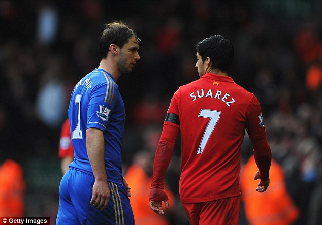 Surprised: Branislav Ivanovic says he did not expect to be bitten by Luis Suarez