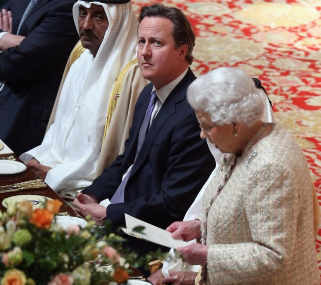 Restrictions: The Prime Minister David Cameron, pictured during the Queen's speech at a State Luncheon for The President of the United Arab Emirates today, said the restrictions would apply across Europe