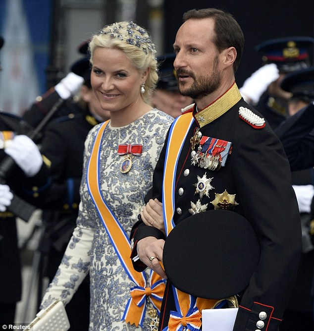 VIP: Crown Prince Haakon and Crown Princess Mette-Marit of Norway attended on behalf of King Harald V