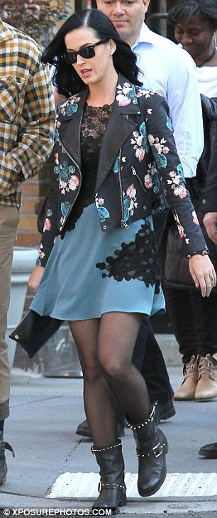 Stylish: The singer looked chic and stylish in her ensemble as she and her stylist hunted for the perfect pumps
