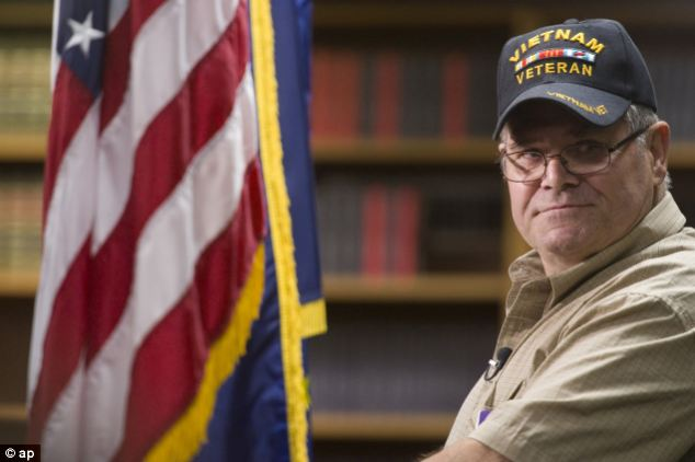 Four decades: James R. Below, a Vietnam veteran has received a Purple Heart 45 years after being injured in the war