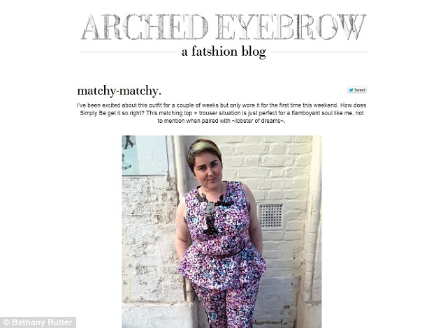 Blogger: Bethany's blog, Arched Eyebrow, shows how larger ladies how to make the most of their looks
