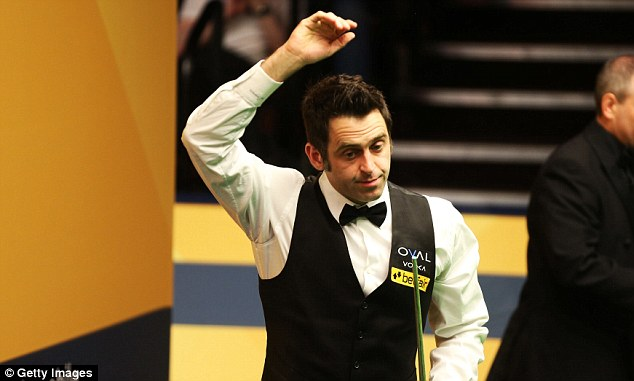 Unhappy: Ronnie O'Sullivan salutes the Crucible faithful after a one-sided victory over Stuart Bingham