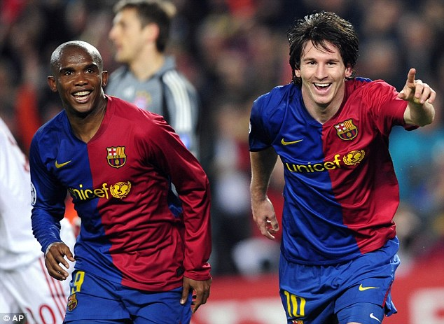 Repeat? Lionel Messi (right) scored twice as Barcelona defeated Bayern Munich 4-0 in a 2009 quarter-final