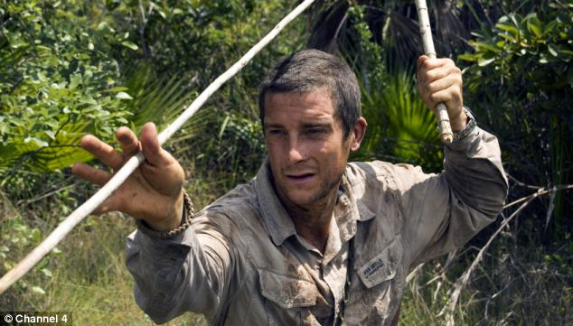 In demand: BBC, ITV and Channel 4 are said to be in a bidding war for the survival expert's latest show which is to air in the US