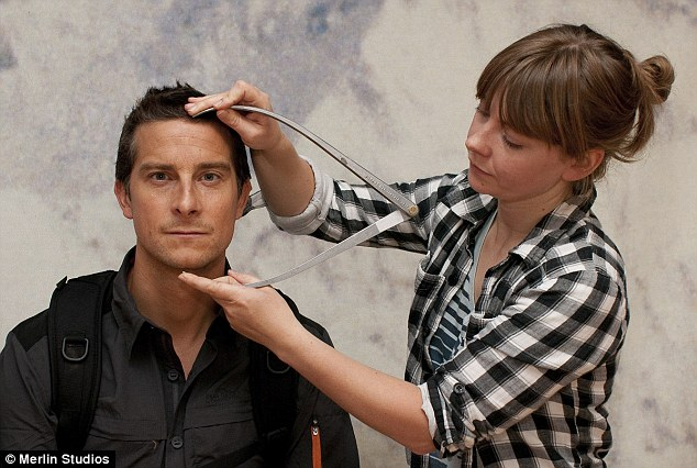Bear Grylls, pictured at a sitting for Madame Tussauds today, tweeted a graphic picture of a snakebite received by one of the production team while filming for his latest show