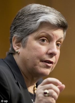 Homeland Security Secretary Janet Napolitano testifies on Capitol Hill in Washington, Tuesday, April 23, 2013