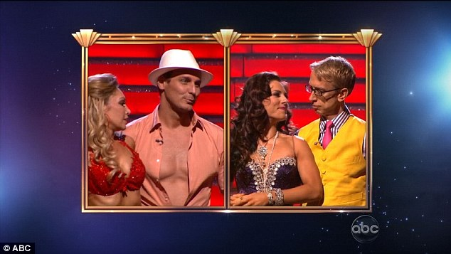Showdown: Andy and partner Sharna Burgess faced off against Ingo Rachemacher and professional dancer Kym Johnson