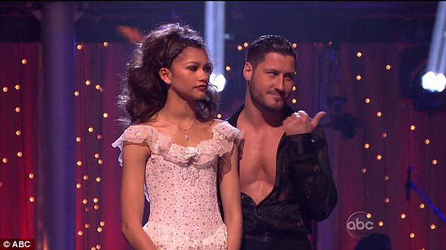 Without a hitch: Disney star Zendaya and Val Chmerkovskiy seamlessly passed to the next level