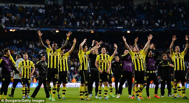 Not so mellow yellow: Borussia Dortmund are back in the Champions League final for the first time in 16 years
