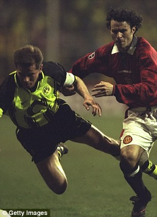 United they fall: Dortmund got the better of Manchester United in the 1997 semi-final