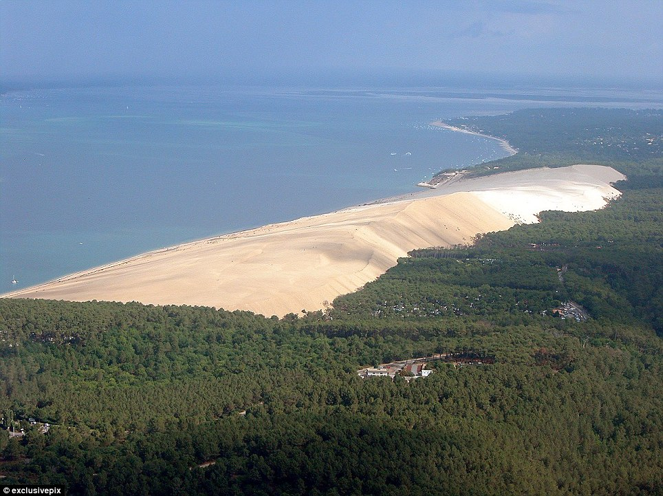 Parasitical: As a result of westerly Atlantic winds, which continually blows sand onto the shore, the dune is moving at a rate of five metres a year