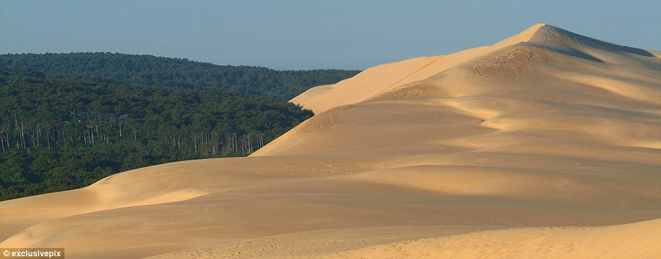 Swelling up: The dune, also known as the Dune du Pyla, is thought to have doubled in size in the last hundred years alone