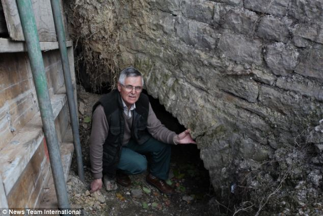 Unearthed: Local resident Tony Frearson takes a look down the two century old railway tunnel