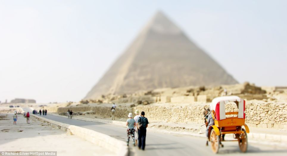 The Pyramids in Egypt are transformed into its mini-versions in a seven-year round the world adventure