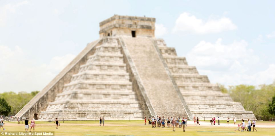 Chichen Itza, a pyramid built by the Maya civilization, Mexico is part of the eye-popping visual feast from across the planet