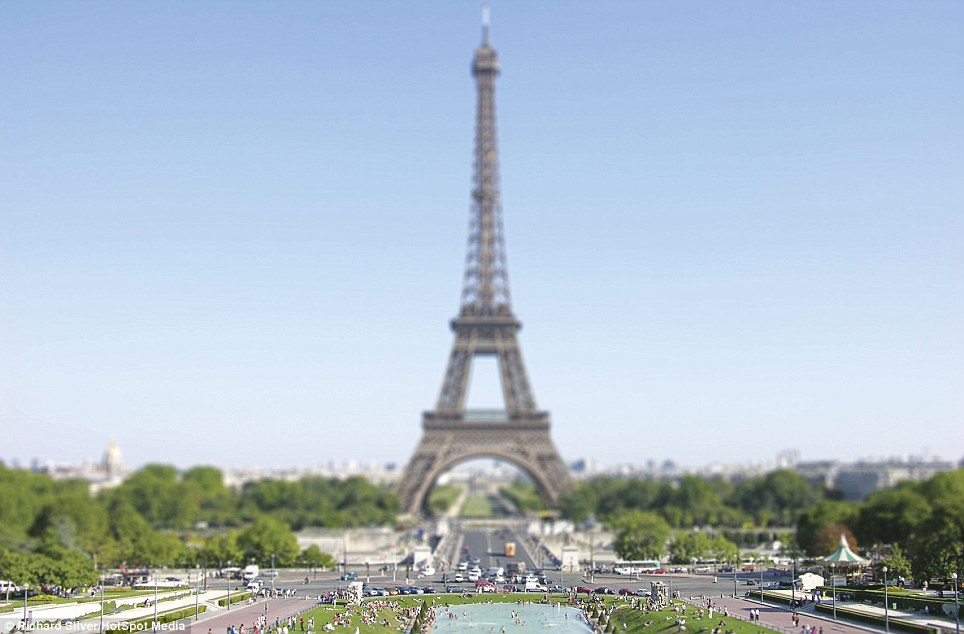 The Eiffel Tower in Paris looks like a toy in comparison to the 320m-tall structure - that is the same height as an 81-storey tower