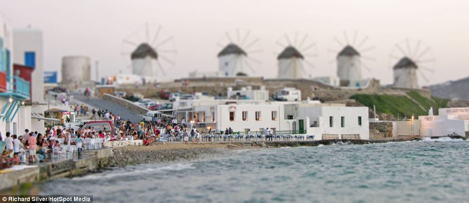The Mykonos Windmills are an iconic feature of the Greek island of the Mykonos