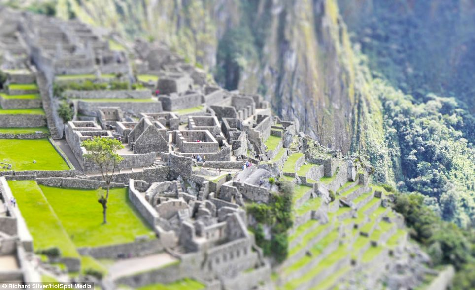 Toy town! The 15th century Inca site of Machu Picchu in Peru covers13-square metres and is built 7,970ft above sea level