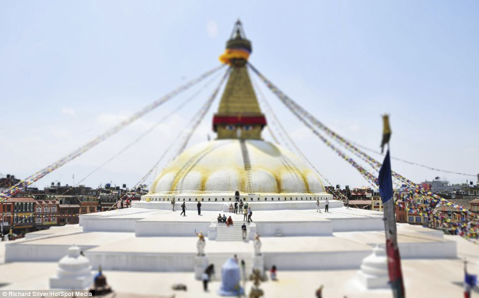 Boudhanath Stupa in the Kathmandu region of Nepal is the largest stupa in Nepal and the holiest Tibetan Buddhist temple outside Tibet