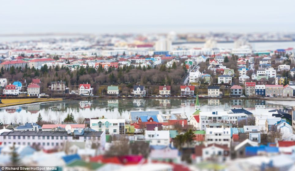 Mini models! The colourful houses that sprawl across Reykjavik, the largest city and capital of Iceland, look like they could be dolls houses