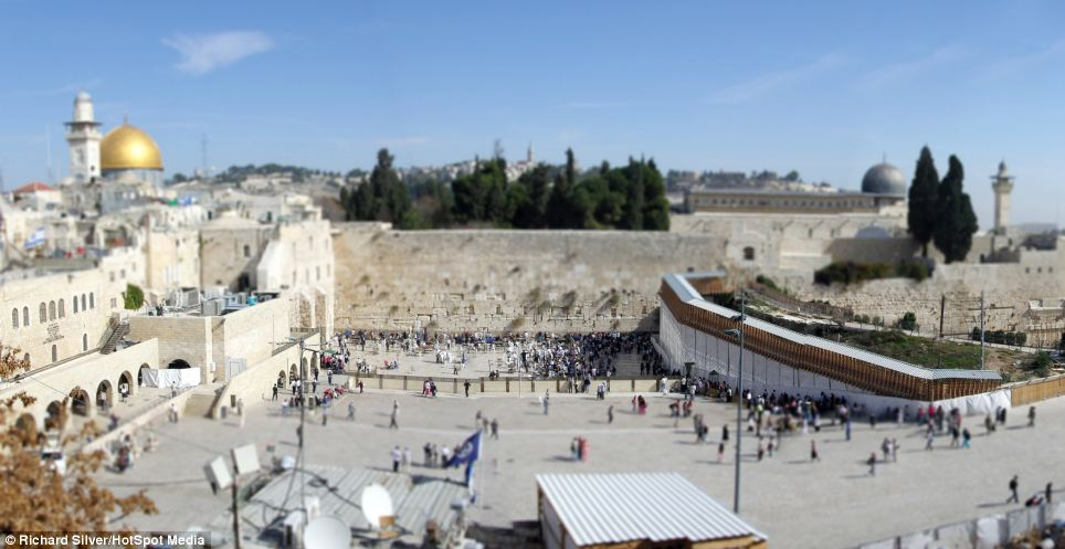 The Western Wall - known as the Wailing Wall - in Israel, is about 485m long and much of it is hidden by the buildings adjoining it