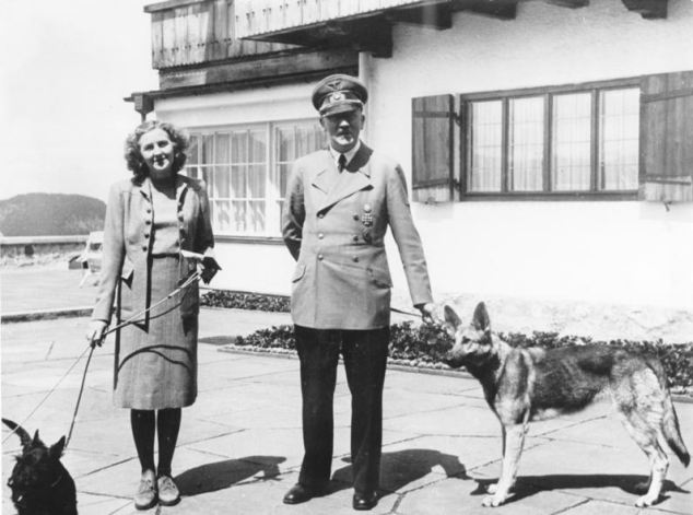 Real holiday snaps: The German leader with Eva Braun relaxing at his Berghof retreat