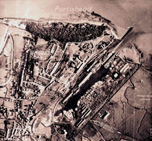 This picture of Portishead was discovered in a secret archive of wartime reconnaissance pictures commissioned by the Nazi leader Adolf Hitler