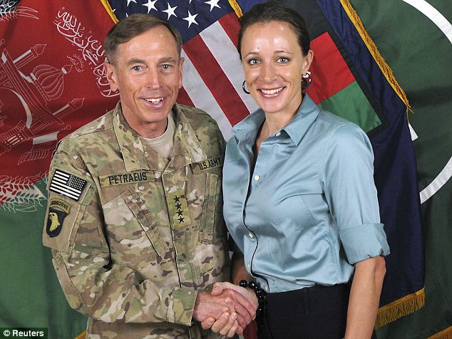Downfall: Broadwell was writing a biography of former General David Petraeus and his time as Commander of U.S. Forces in Afghanistan when the pair had an affair