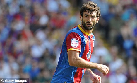 Targeted: Crystal Palace's Mile Jedinak could join Tony Pulis at Stoke