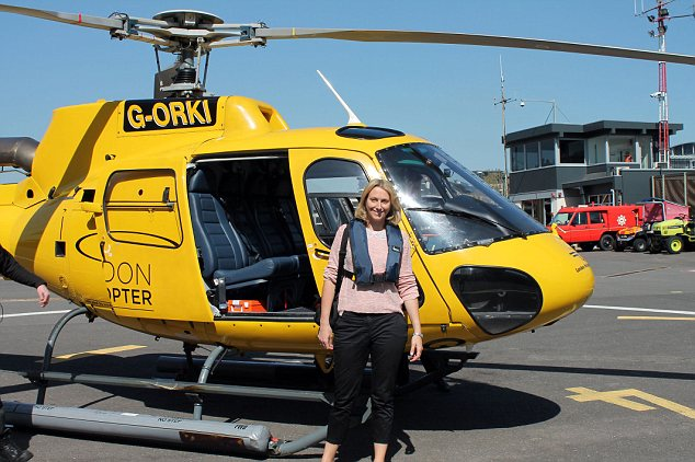 Jo Tweedy and London sightseeing tour heilicopter