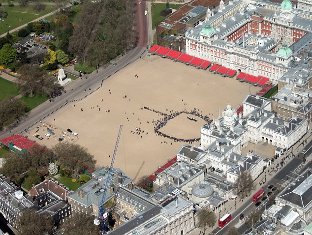 Horse Guards Parade aerial shot