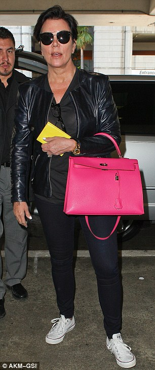 Refreshed: Kris looked like she had rested well during her holiday and was seen arriving back in LA on Wednesday