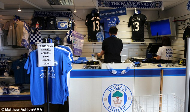 Massive day: Wigan could already be down by the time they kick-off their FA Cup final against Man City