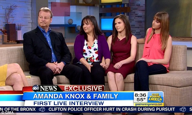 Close: Amanda Knox appeared on Good Morning America with her family last week