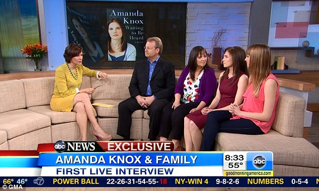 Second live interview: Amanda Knox, shown this morning, faced the world for the first time live on Good Morning America yesterday