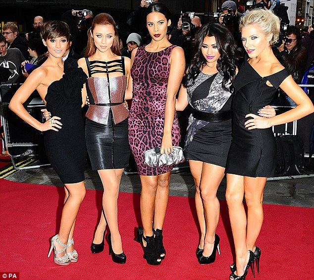 Musical success: Frankie is one-fifth of hit girl group The Saturdays
