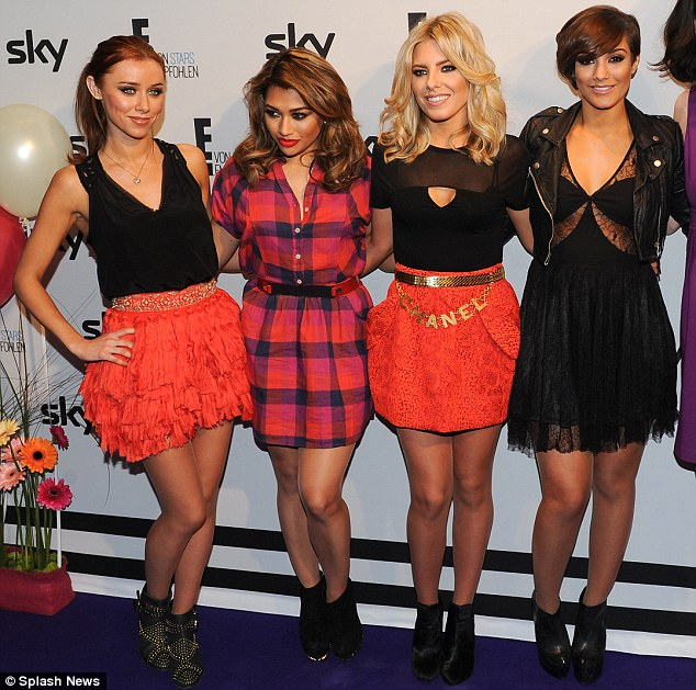 Top band: Frankie (right) with The Saturdays
