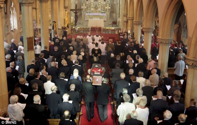 Lonely end: Didi was dubbed 'Eleanor Rigby' after she died alone in 2010, but when her story leaked out, the church in Torquay was packed