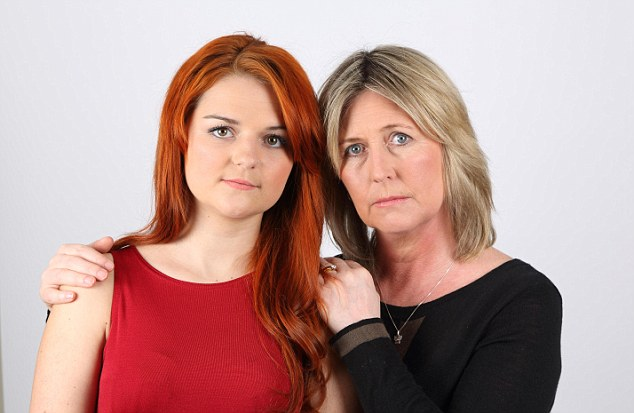 Protective: Della Phillips with her 17-year-old daughter Abi whose sister Kelly died before her 18th birthday