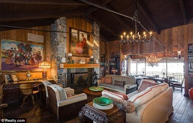 Blast from the past: Much of the home's 1960s-era decor is still intact