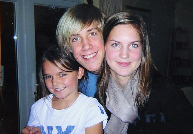 Family:  Pictured left to right Abi, brother Matthew and Kelly in 2004 at their home