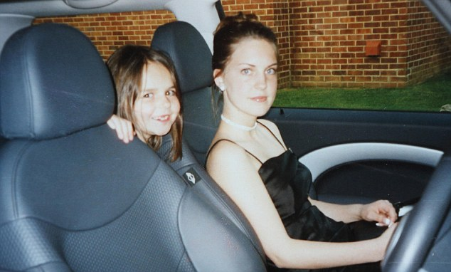 Precious memory: Kelly, at 16, and dressed up for a school prom with her sister Abi
