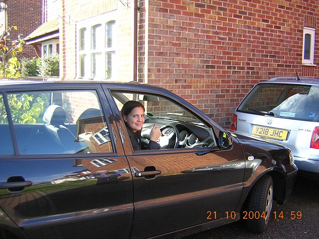 Picture shows Kelly Phillips learning to drive in 2004. Tragically she would die in car being driven by a friend who crashed killing them both