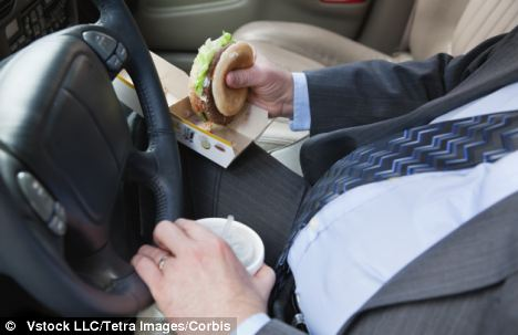 Smells: Many drivers now eat on the go, with the smell of festering fragments of fast food in cars driving many motorists mad