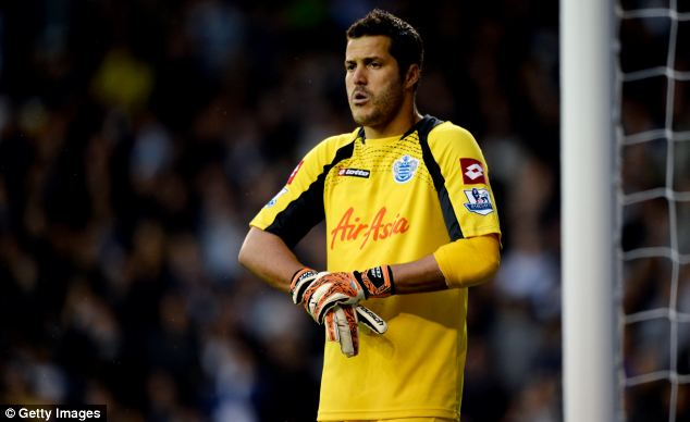 Big money: Redknapp insists it would take a big offer to take goalkeeper Julio Cesar off his hands